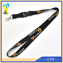 Black Promotional Lanyard with Custom Logo